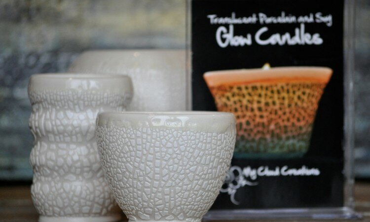Hostess Gifts - Soy & porcelain Glow Candles.