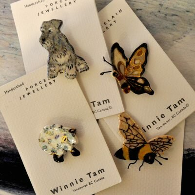 What's New – Winnie Tam Dog and Cat Brooches